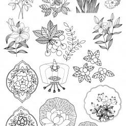밑그림 전사 (민화와꽃-중소1)